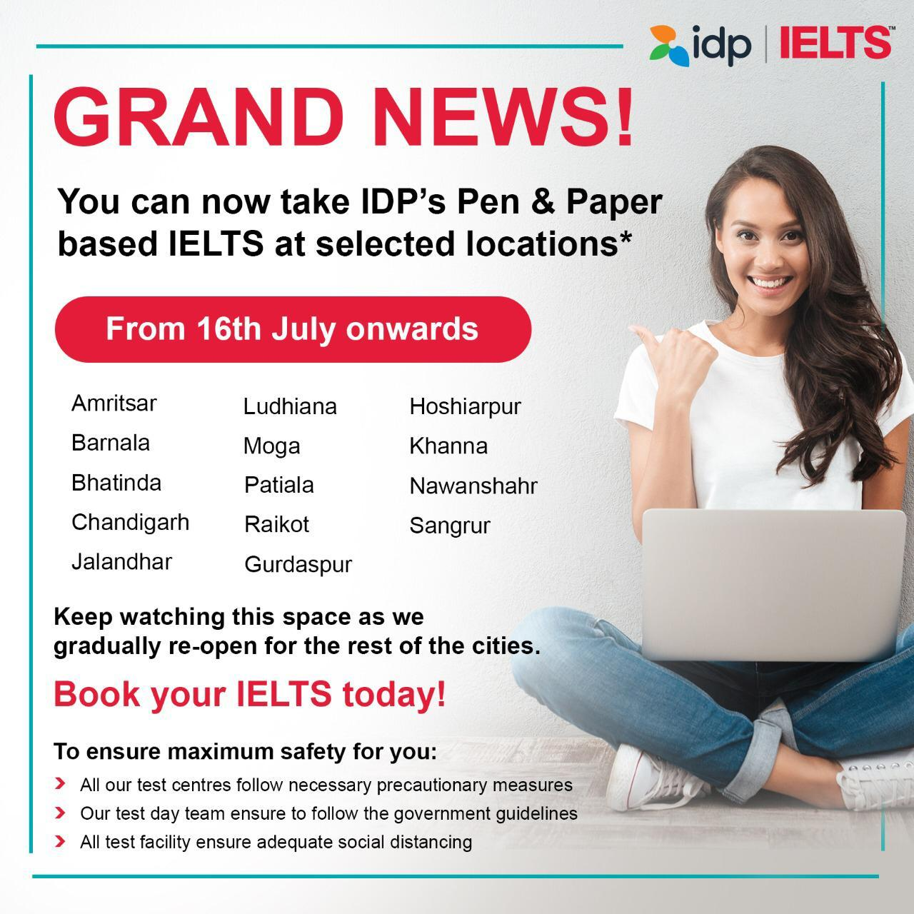 Your wait for  IELTS exam is over